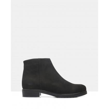 Ena Ankle Boots 129-BLACK NUBUK by Sempre Di