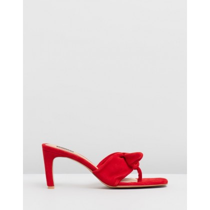 Endear Thong Slide Heels Cherry by Jaggar The Label