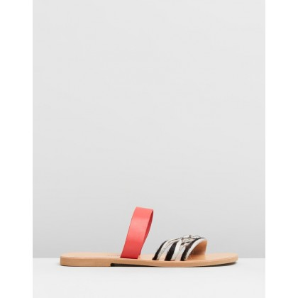 Eos Sandals Animal & Red by Ammos