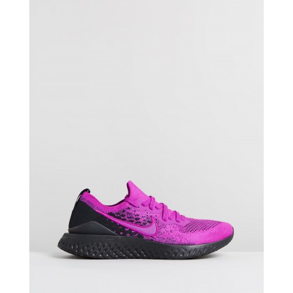 Epic React Flyknit 2 - Men's Vivid Purple & Black by Nike