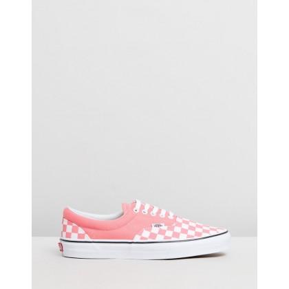 Era Checkerboard - Women's Checkerboard Strawberry Pink & True White by Vans
