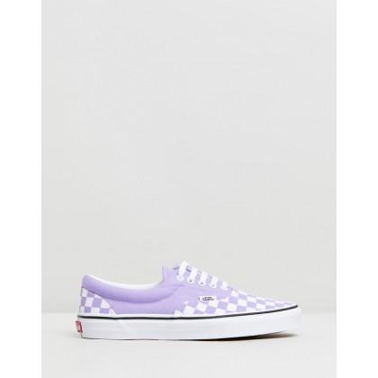 Era Checkerboard - Women's Checkerboard Violet Tulip & True White by Vans