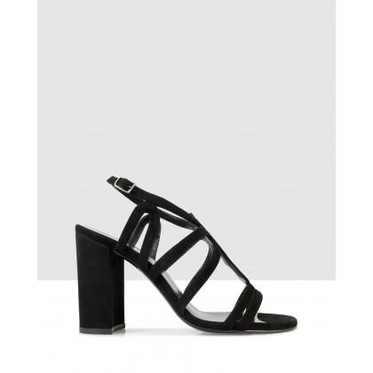 Erica Block Heels Black by Sempre Di