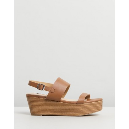 Erica Flatforms Tan Smooth by Dazie