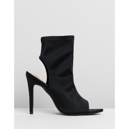 Erin Ankle Boots Black Lycra by Spurr