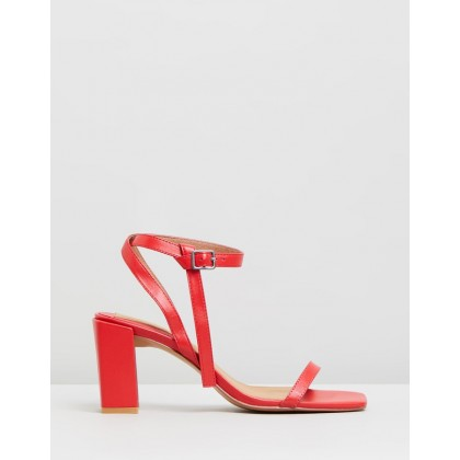 Essential Leather Heels Rose by Jaggar The Label