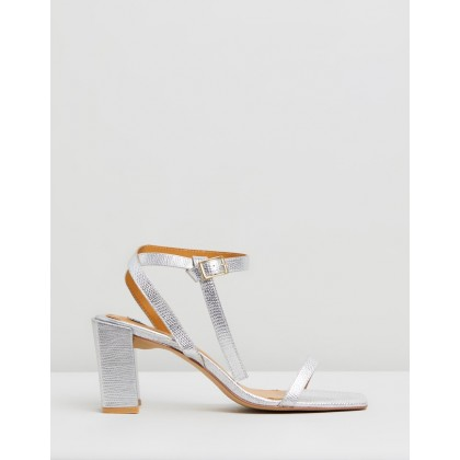 Essential Lizard Heels Silver by Jaggar The Label