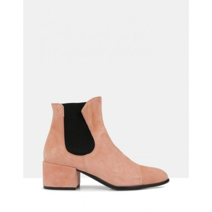 Eton Ankle Boots Pink 1523 by Beau Coops