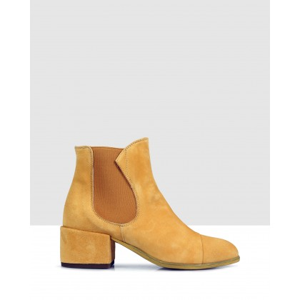 Eton Ankle Boots Indian Yellow/yellow by Beau Coops