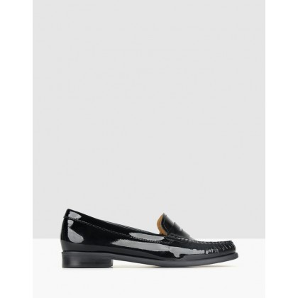 Eton Patent Leather Loafers Black by Airflex