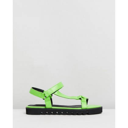 Eva Sandals Lime Green Neon by Spurr