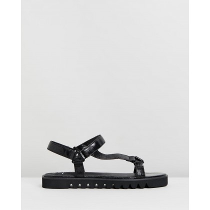 Eva Sandals Black by Spurr