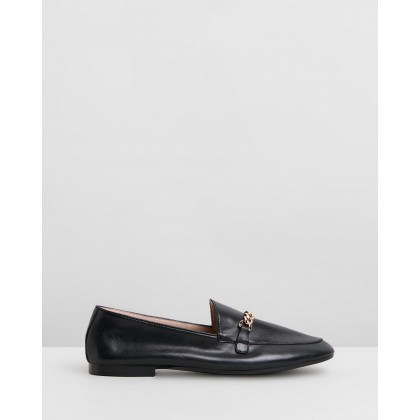 Evelyn Leather Loafers Black Leather by Atmos&Here