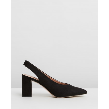 Everley Court Heels Black by Dorothy Perkins