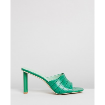 Exclusive - Candy Crush Mules Green by Manning Cartell