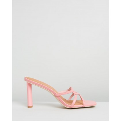 Exclusive - Well Connected Mules Pink by Manning Cartell