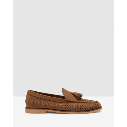 Fabian Woven Tassle Loafers Tan by Oxford