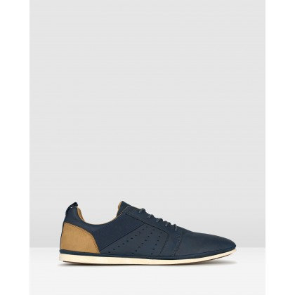 Falcon Lace Up Lifestyle Shoes Navy by Zu