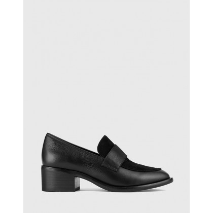 Fallon Leather Loafers Black by Wittner