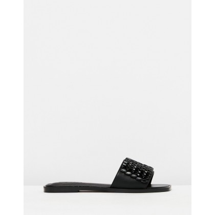 Fancy Embellished Sandals Black by Topshop