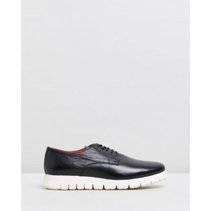 Farah Leather Derby Black by Double Oak Mills