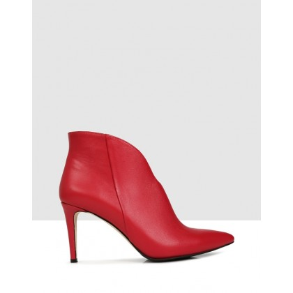 Faviola Ankle Boots Red by Sempre Di