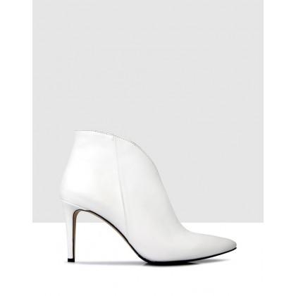 Faviola Ankle Boots White by Sempre Di