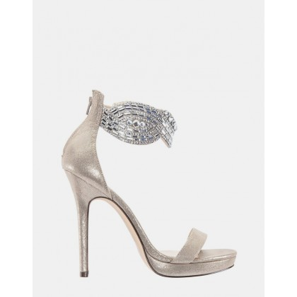 Fayth TAUPE REFLECTIVE SUEDE by Nina