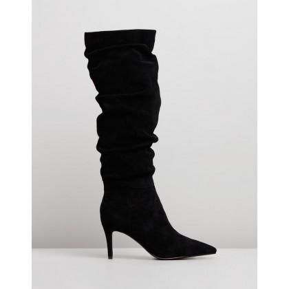 Felicia Boots Black Suede by Sol Sana