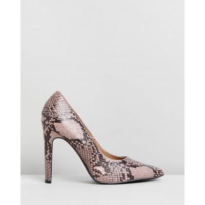Felicia Heels Snakeskin by Spurr