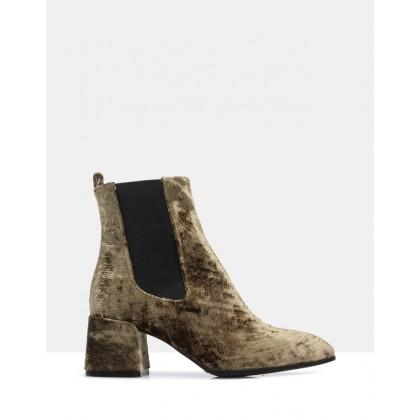 Felita Ankle Boots Green by Sempre Di