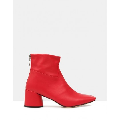Felix Ankle Boots Rosso by Beau Coops