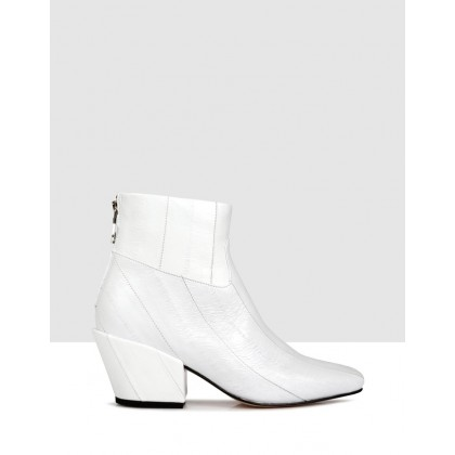 Felix Ankle Boots White by Beau Coops