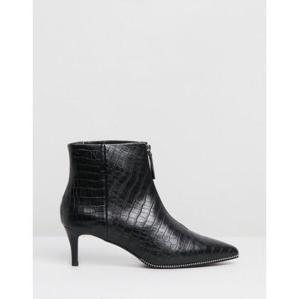 Felix Boots Black Croc by Sol Sana