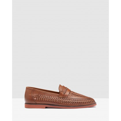 Felix Slip On Woven Loafer Tan by Oxford