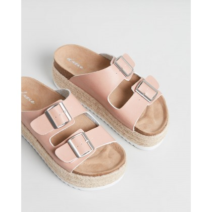 Fen Slides Pink Smooth by Dazie