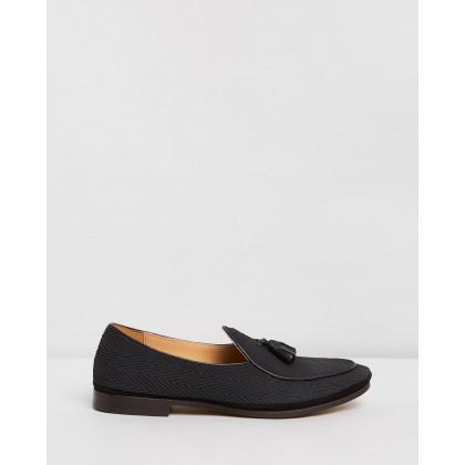 Ferguson Leather Loafers Black by Double Oak Mills