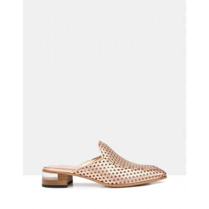 Finch-B Mules Gold Rose by Beau Coops