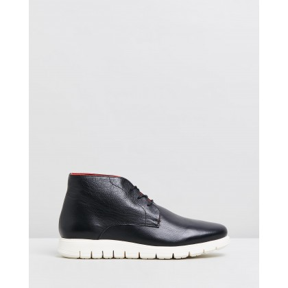 Finch Leather Boots Black by Double Oak Mills