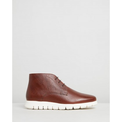 Finch Leather Boots Whisky by Double Oak Mills
