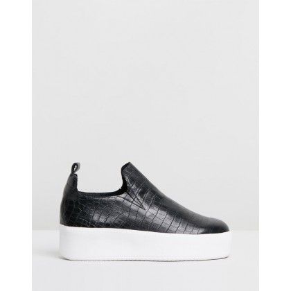 Finley Sneakers Black Croc by Sol Sana