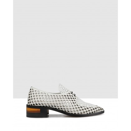 Finsey Lace Ups White by Beau Coops