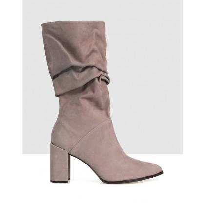 Firmina Mid Calf Boots Grey by Sempre Di