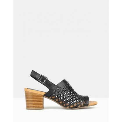 Flame Cut Out Sandals Black by Airflex