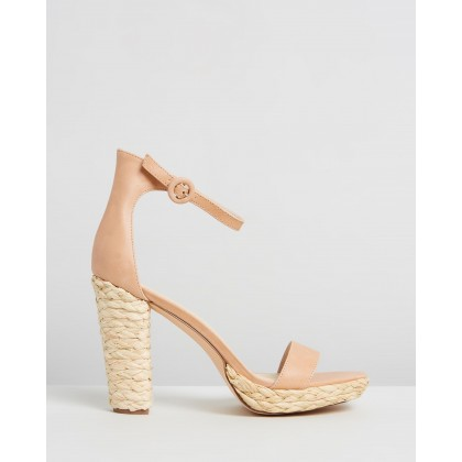 Flamenco Tan & Leather Raffia by Nude