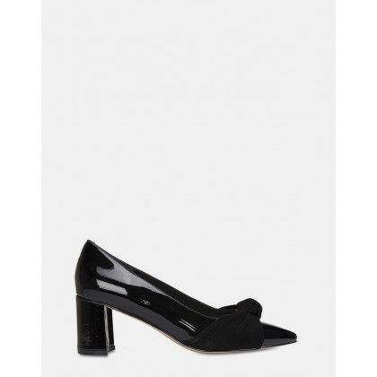 Flare BLACK PATENT/SDE by Jane Debster