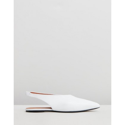 Flat Slingback Shoes White by Joseph