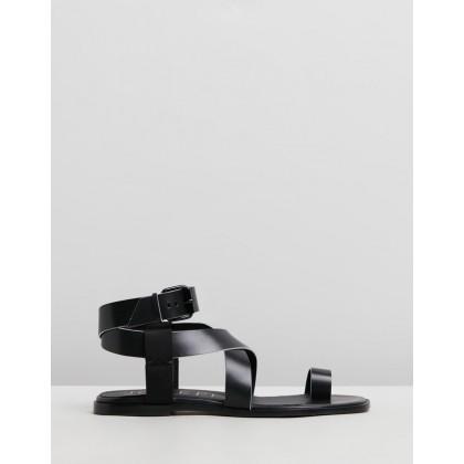 Flat Strap Sandals Black by Joseph