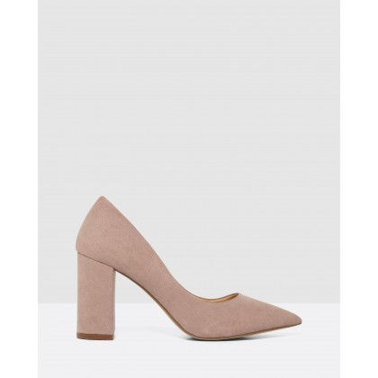 Fleur High Block Court Shoes Pink by Forever New