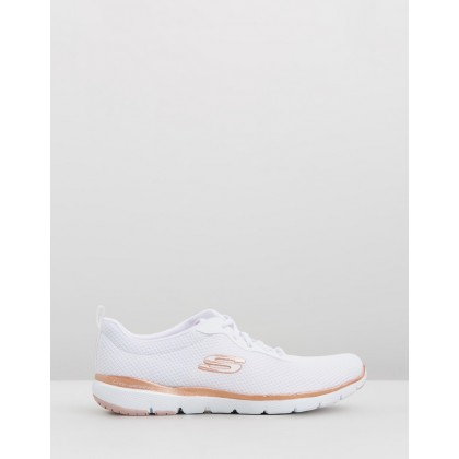Flex Appeal 3.0 - First Insight - Women's White & Rose Gold by Skechers